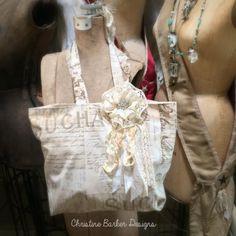 Easy Shabby Tote I made for a Bag Swap
