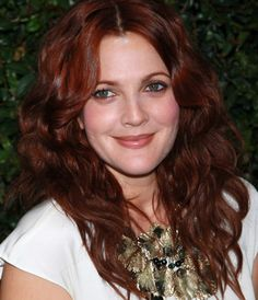 Drew Barrymore's new red hair color.