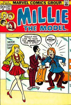 Millie The Model Archie Comic Books, Vintage Comic Books, Vintage Comics, Comic Book Characters, Vintage Ads, Millie The Model, Archie Comics Riverdale, Jordi Bernet, Romantic Comics