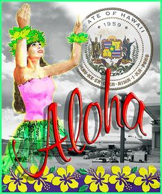 State of Hawaii Aloha Travel Poster - See More @gr8traveltips
