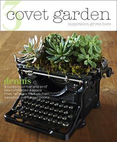 Covet Garden Magazine issue3  A plant and book filled loft is the home of art historian and curator, Dennis.