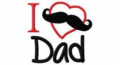 Fathers Day Onesie I Love Daddy Onesie Mustache by LilMamas, $16.90
