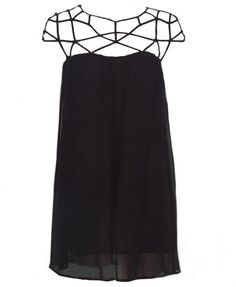 $56, Chiffon Swing Dress With Cutout Details by ChicNova. Sold by ChicNova. Click for more info: http://lookastic.com/women/shop_items/78922/redirect