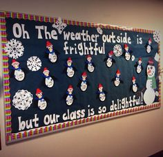 Winter Snowman and Snowflake Classroom Bulletin Board. Winter Snowman and Snowflake Classroom Bulletin Board. December Bulletin Boards, Valentine Bulletin Boards, Creative Bulletin Boards, Science Bulletin Boards, Christmas Bulletin Boards, Classroom Bulletin Boards, Kindergarten Bulletin Boards, Preschool Classroom, Winter Bulletin Boards For School Hallways