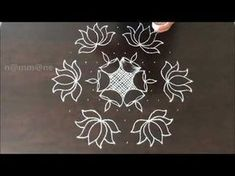 Dear friends, Rangoli is an art which precedes sculpture and painting. It is both an auspicious and a preliminary necessity in any religious ritual. Rangoli Kolam Designs, Rangoli Designs With Dots, Rangoli Designs Images, Kolam Rangoli, Rangoli With Dots, Beautiful Rangoli Designs, Simple Rangoli, Mehandi Designs, Lotus Rangoli