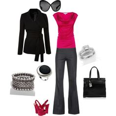 """Not sure about those shoes but everything else is great!   """"Pink"""" by naira-aponi on Polyvore"""