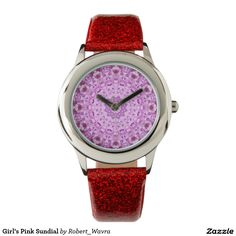 Girl's Pink Sundial Wristwatches