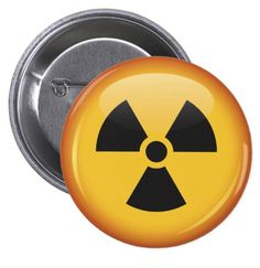 Radiation symbol pinback button / pin