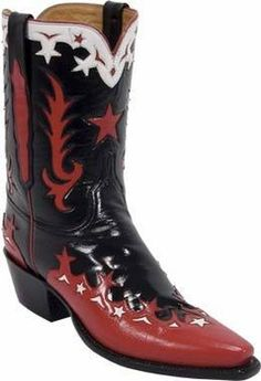 Ladies Lucchese Vintage Classics Black Calf Custom Hand-Made Cowgirl Boots L7004