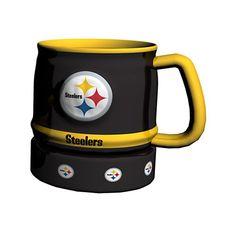 NFL Pittsburgh Steelers Barrel Mug 16Ounce Black *** Read more  at the image link.