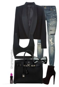 """""""Street Elegance"""" by highfashionfiles ❤ liked on Polyvore featuring Polo Ralph Lauren, Isabel Marant, Hermès and Christian Louboutin"""