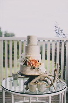 Embossed wedding cake