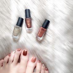 ネイルホリック / ネイルホリック   ᴍɪɴᴀᴍɪさんのクチコミ   Lulucos by.S(ルルコス・バイエス) Winter Nail Art, Winter Nail Designs, Autumn Nails, Winter Nails, Pedicure Nail Art, Manicure, Cute Nails, Pretty Nails, Top To Toe