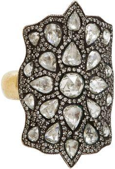 Sevan Bicakci Diamond, Gold & Sterling Silver Theodora Shield Ring