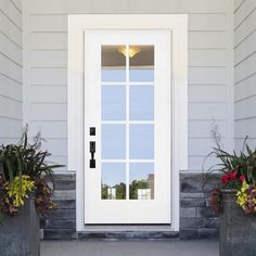 Glass Panel Door, Glass Front Door, Front Door Decor, Sliding Glass Door, Doors With Glass Panels, Exterior Doors With Glass, Front Doors With Windows, Back Doors, Door With Window