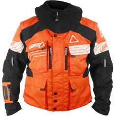 Leatt GPX W.E.C Waterproof Jacket - Orange Black White