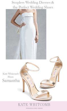 46ffb110f Pretty gold wedding shoes for all brides •Wedding Shoes •Gold shoes for  bride •