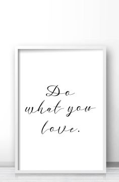 Do what you love inspirational words typography, Printable quote art, Minimalist decor, Minimalist wall art print by Limitation Free