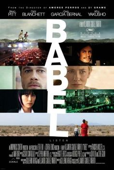Babel - an exceptional movie that integrates several different cultures and perspectives that are intertwined.  It isn't until the end that you realize how closely we all are related.