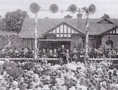 Opening ceremony for the St Patrick's Cathedral Presbytery in 1935.