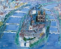 A few paintings by the French artist, Jean Dufy (1888 - 1964), the younger brother of the better known Raoul Dufy. Description from pinkpagodastudio.blogspot.com. I searched for this on bing.com/images