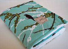 Aviary Modern Print Handmade Baby Blanket for Baby Girls