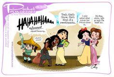 Pocket Princess Comics, Pocket Princesses, Disney Princesses, New Pocket Princess, Disney And Dreamworks, Disney Pixar, Disney Magic, Disney Fan Art, Funny Princess