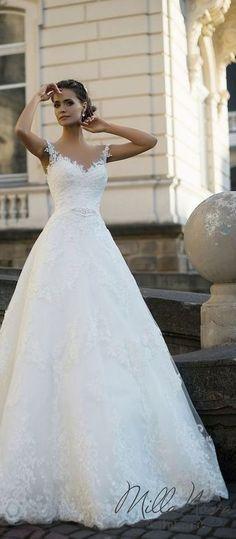 Milla Nova 2016 Bridal Wedding Dresses / http://www.deerpearlflowers.com/milla-nova-wedding-dresses/3/ #weddingdress