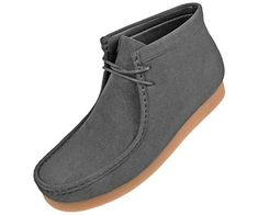 10 Vegan Suede Boots to Wear With Almost Anything 2019 - Amali Men's Faux Seude High Top Casual Boots with Crepe Rubber Like Sole, Style Jason, Runs Small Size 1 UP Suede Chelsea Boots, Suede Ankle Boots, Suede Booties, Vegan Boots, Vegan Clothing, Vegan Fashion, Casual Boots, Thigh High Boots, Suede Leather
