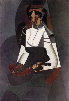 Juan Gris (Spanish, 1887-1927), La femme à la mandoline, d'après Corot [Woman with Mandolin, after Corot], 1916. Oil on canvas, 92 x 60 cm.