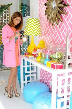 Make A Statement like Maria Barros. candy colored room!