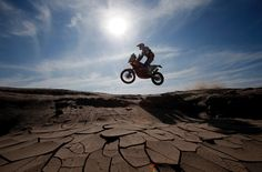 KTM rider Marc Coma of Spain rides during the sixth stage of the Dakar Rally from Antofagasta to Iquique, January (Photo by Jean-Paul Pelissier/Reuters) Ktm Adventure, Wheel In The Sky, Rally Raid, Moped Scooter, Capture Photo, Fun Shots, Dirtbikes, Motocross, Motorbikes