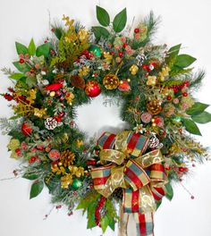 Artificial Evergreen Christmas Wreath  by ArtificialWreaths, $135.95