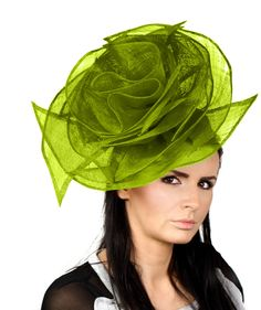 Beautiful Bright Lime Dora Rose Fascinator Kentucky Derby Fascinator Hat for Ascot, Derby or Weddings With Headband. $260.00, via Etsy.