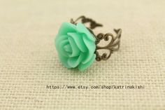 The bronze ring personality love roses by katrinakishi on Etsy, $1.70