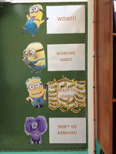 Despicable Me Minion themed behaviour chart Oooooh, want to do this some day lol
