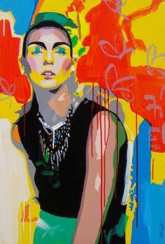 "Saatchi Online Artist: Vinita Dasgupta; Acrylic, 2012, Painting ""mystic speil-3"" #nyfw"