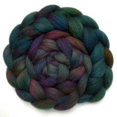 Shetland Roving Handdyed Combed Top  Tapestry 6.2 by JulieSpins, $29.65