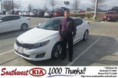 https://flic.kr/p/DJywPy | Happy Anniversary to Ronnie on your #Kia #Optima from James Adams at Southwest KIA Rockwall! | deliverymaxx.com/DealerReviews.aspx?DealerCode=TYEE