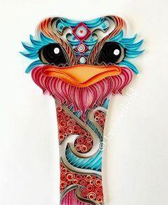 OMG!! I love this cute lil ostrich face! **Квиллинг- волшебство бумажных полосок!***