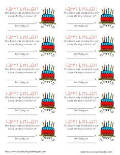 Class Birthdays freebie