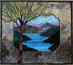 How To Do Landscape Quilting -  One of these days I will make a landscape quilt and it will be as gorgeous as this one.