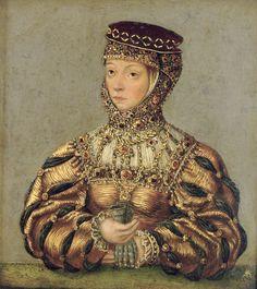 LUCAS CRANACH (1472 - 1553)   Portrait of Barbara Radziwill. National Museum…