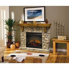 $1500 fireplace Dimplex SMP-904-ST Stone Look Electric Flame ...