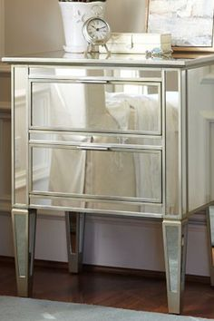 $275 #mirrored Nightstand | Designing Women | Pinterest | Nightstands, Night  Table And Room