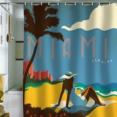 Miami Shower Curtain 69x70 now featured on Fab.