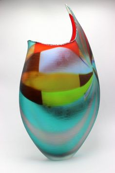 Afro Celotto Italian Blown Murano Glass Vase