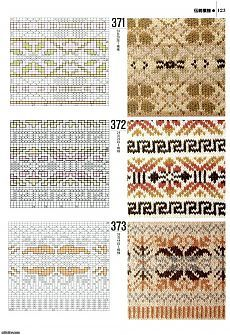 Fair Isle - just one panel of many on this page. Fair Isle Knitting Patterns, Knitting Charts, Knitting Designs, Knitting Stitches, Knit Patterns, Stitch Patterns, Motif Fair Isle, Fair Isle Chart, Fair Isles