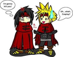 Vincent Valentine and Cloud Strife. Fan art. Final Fantasy VII.<-----ALLRIGHT! I SWEAR THIS IS THE LAST ONE