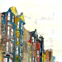 Postcards of #Edinburgh, designed by Rowan Leckie and printed by us!